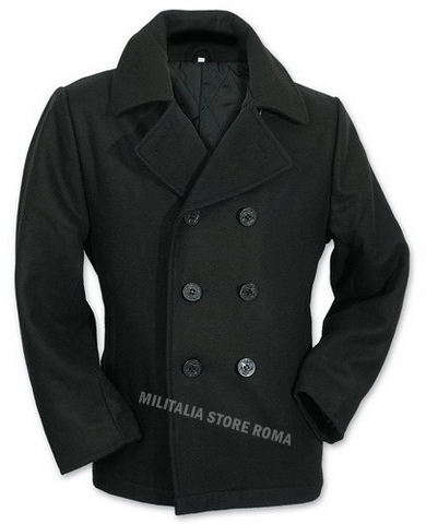 US NAVY PEACOAT BLACK